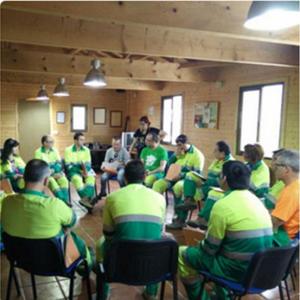 Voluntarios de Lafarge en la Fundación Proyecto Hombre