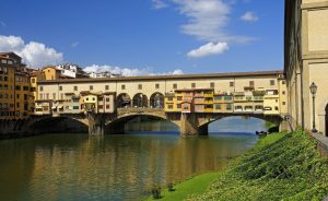 VIew of beautiful bridge Ponte Vecchio - Florence - Italy