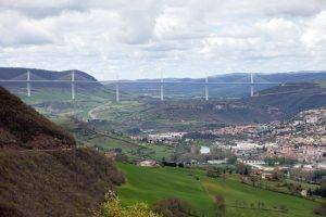 Millau Bridge (France) - 3,2km long, 400m high - one of the most gorgeous bridges in the world.