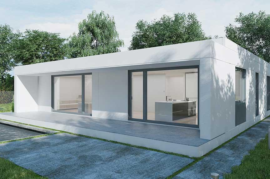 Casas por modulos de hormigon vuam france porche casas for Casas prefabricadas financiadas