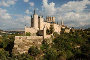 The famous Alcazar (Castle) of Segovia in Spain