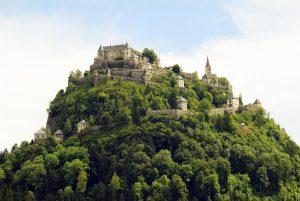 Brueckl, Austria - June 17th 2005: Castle Hochosterwitz, a preferred tourist attraction and landmark in Carinthia