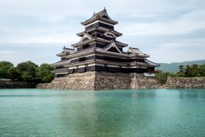 Matsumoto, Japan- May 15, 2015: Matsumoto castle, the beautiful classic black castle. the locally known as the crow castle, Nagano, Japan.