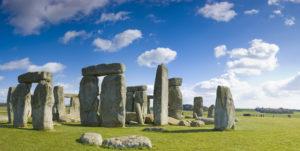 Blue skies over Stonehenge